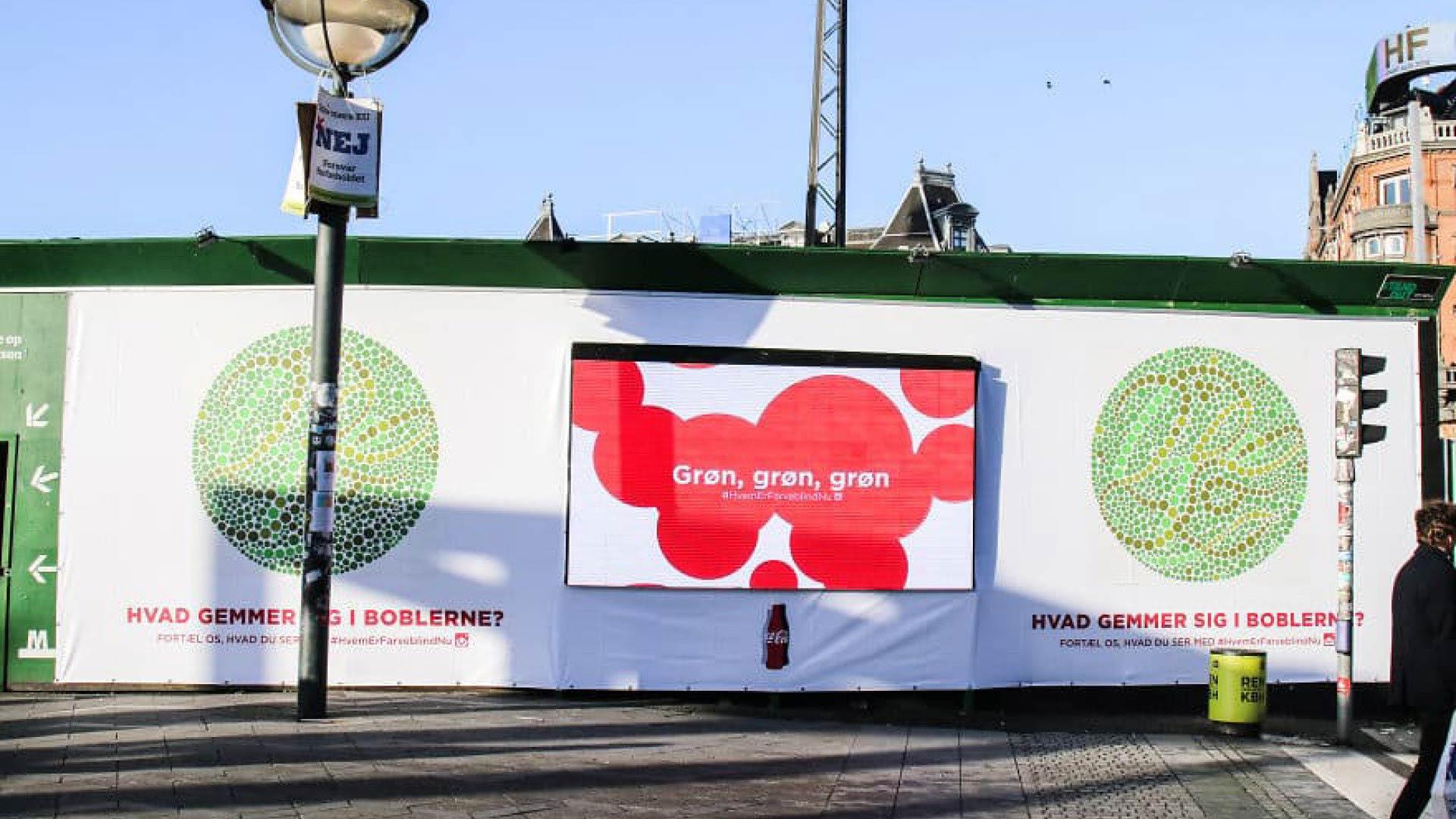banner coca cola life lancering på rådhuspladsen