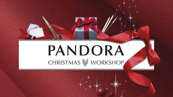 kampagnebillede af logo for Pandora Christmas Workshop