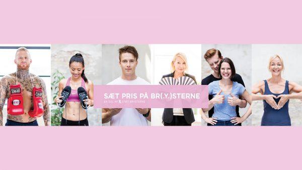 Collage for kampagnen sæt pris på brysterne