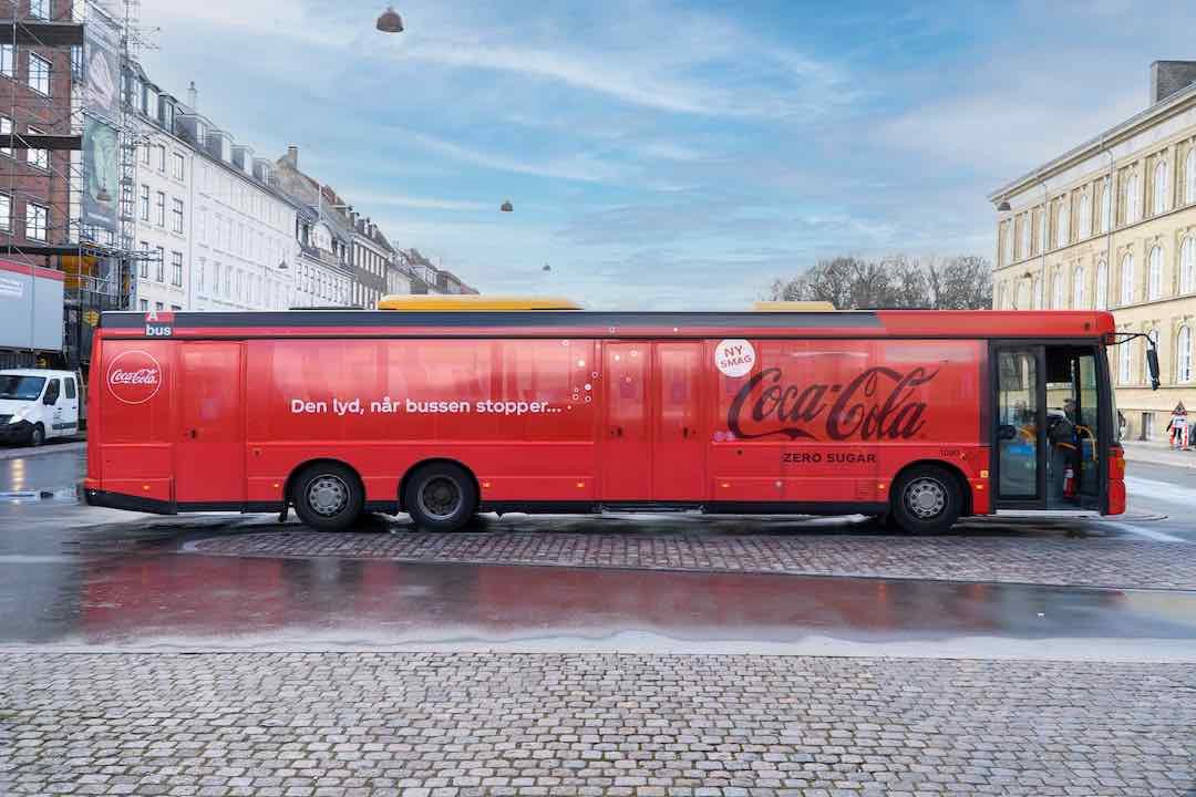 coca-cola bus coke zero